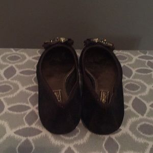 Coach Shoes - Coach Flats - Brown metallic w Jewel Detail